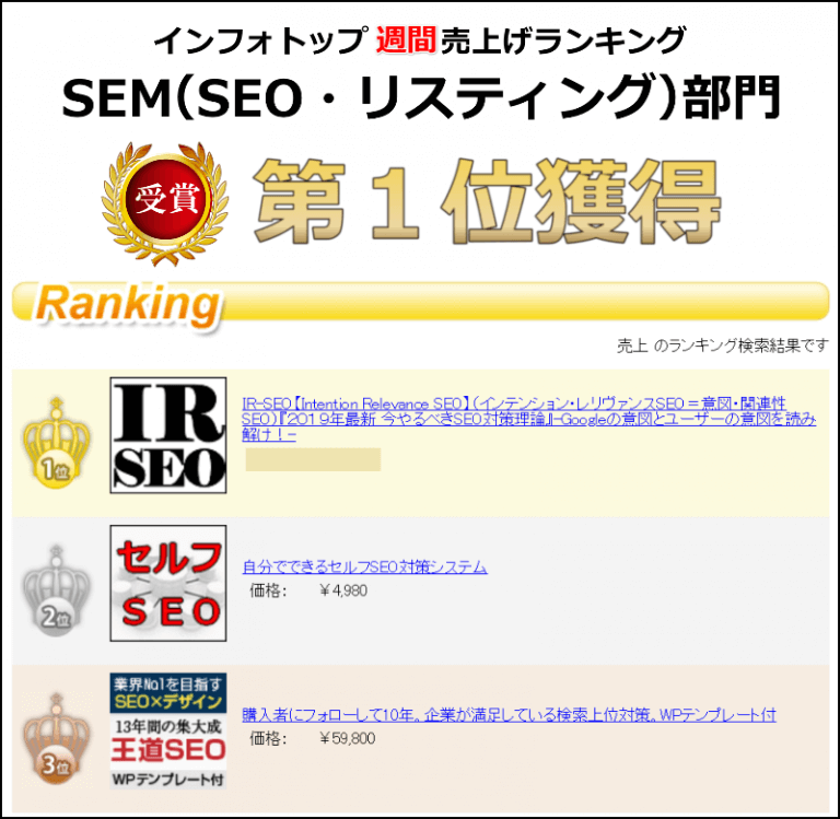 IR-SEO インフォトップ ランキング