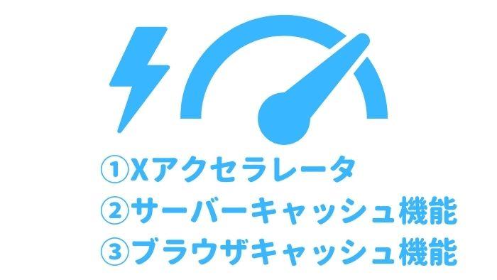 エックスサーバー 高速化機能 Xアクセラレータ